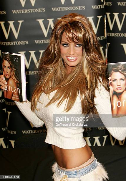 Katie Price during Katie Price Signs Her Book 'A Whole New World' at Waterstone's in London February 1 2006 at Waterstone's in London Great Britain
