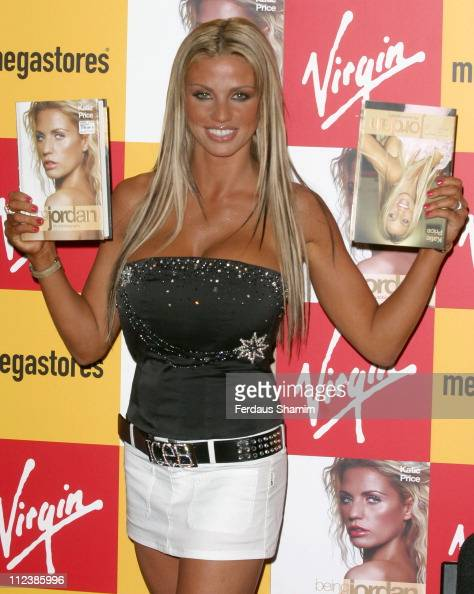 Katie Price during Katie Price Signs her New Book 'Being Jordan' at Virgin Mega Store Oxford Street in London Great Britain