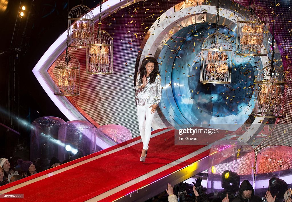 Katie Price is crowned winner of Celebrity Big Brother 2015 at Elstree Studios on February 6 2015 in Borehamwood England
