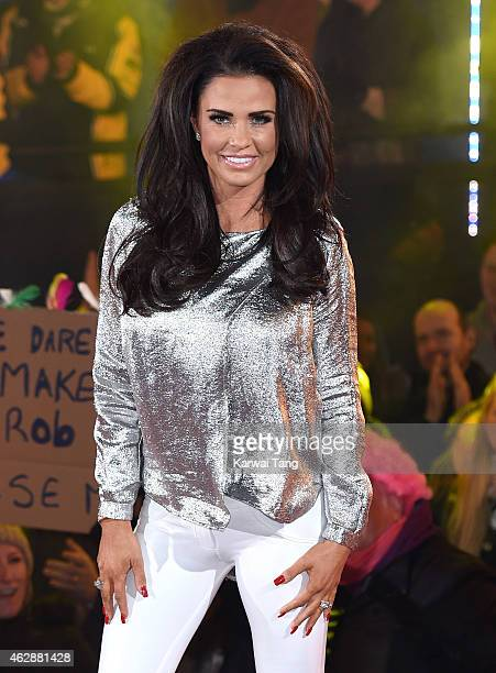 Katie Price is crowned winner of Celebrity Big Brother 2015 at Elstree Studios on February 6 2015 in Borehamwood England