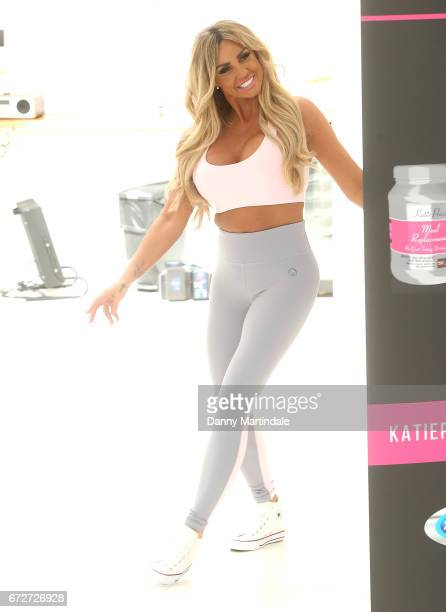Katie Price launches her new range of nutrition products at The Worx Studio's on April 25 2017 in London England