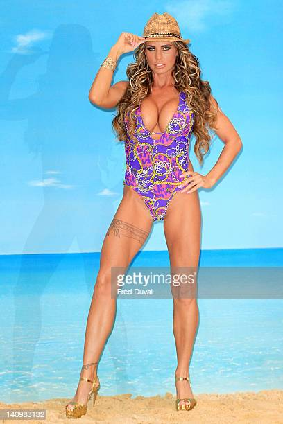 Katie Price launches her new swimwear range for Katie's Boutique for Store 21 at The Worx Studio's on March 7 2012 in London England
