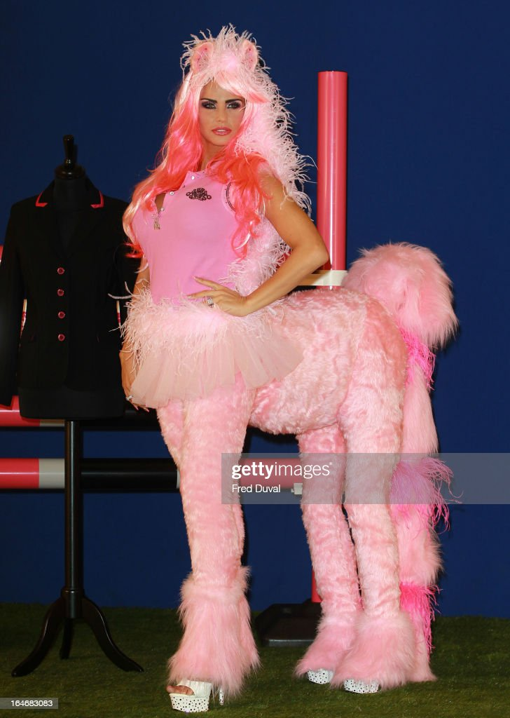<a gi-track='captionPersonalityLinkClicked' href=/galleries/search?phrase=Katie+Price&family=editorial&specificpeople=260303 ng-click='$event.stopPropagation()'>Katie Price</a> poses at a photocall to launch KP Equestrian at The Worx Studio's on March 26, 2013 in London, England.