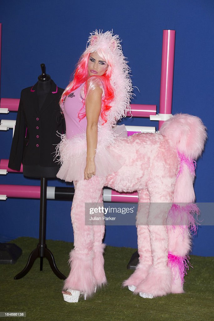 <a gi-track='captionPersonalityLinkClicked' href=/galleries/search?phrase=Katie+Price&family=editorial&specificpeople=260303 ng-click='$event.stopPropagation()'>Katie Price</a> poses at a photocall to launch some new products for KP Equestrian, Katie's Equestrian company, at The Worx Studio's on March 26, 2013 in London, England.
