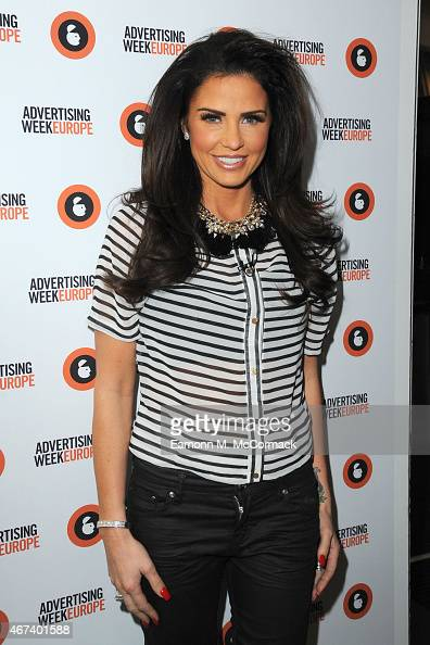 Katie Price poses during Building Your Own Brand part of Advertising Week Europe Piccadilly on March 24 2015 in London England