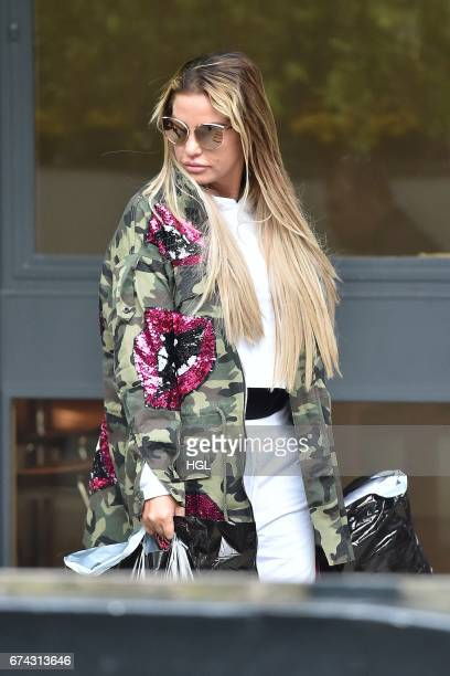 Katie Price seen arriving at the ITV Studios on April 28 2017 in London England