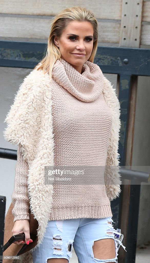 <a gi-track='captionPersonalityLinkClicked' href=/galleries/search?phrase=Katie+Price&family=editorial&specificpeople=260303 ng-click='$event.stopPropagation()'>Katie Price</a> seen at the ITV Studios after appearing on Loose Women on February 8, 2016 in London, England.