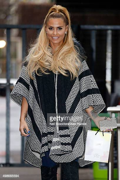 Katie Price seen leaving the ITV Studios after an appearance on 'Good Morning Britain' on November 25 2015 in London England Photo by Neil...