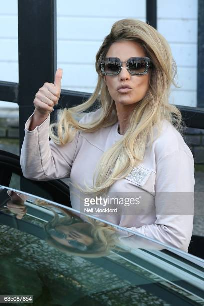 Katie Price seen leaving the ITV Studios after appearing on Loose Women on February 13 2017 in London England