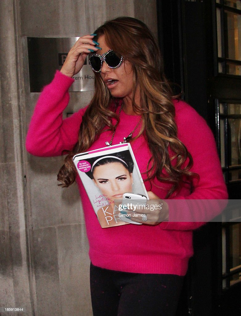 Katie Price sighted at the BBC on October 26, 2013 in London, England.