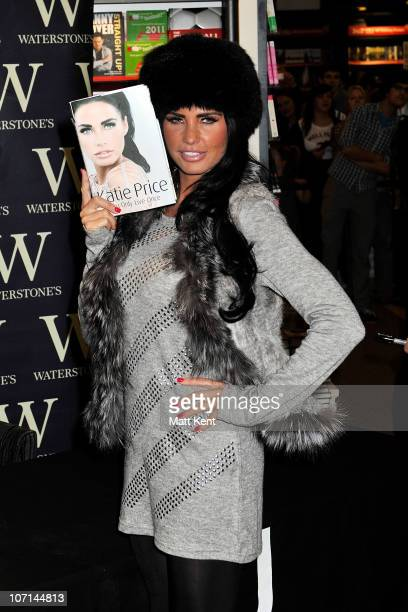 Katie Price signs copies of her book 'You Only Live Once' at Waterstone's in Bluewater Shopping Centre on November 25 2010 in Greenhithe England
