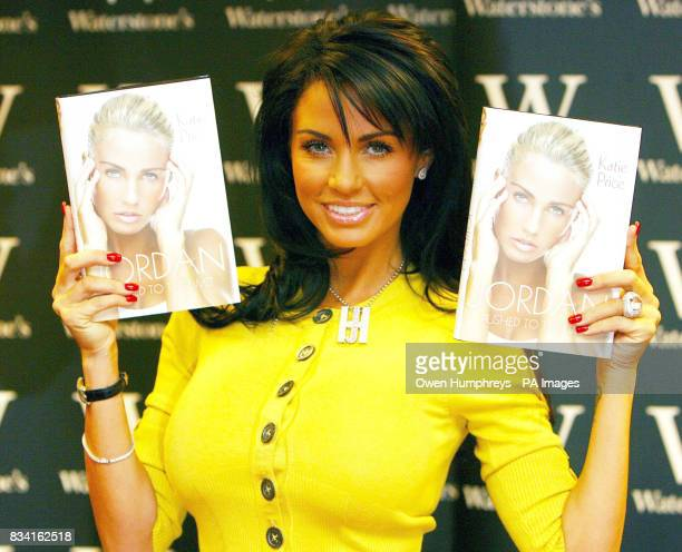 Katie Price signs copies of her new book Jordan Pushed To The Limit at Waterstones in the Metro centre Gateshead Tyne And Wear