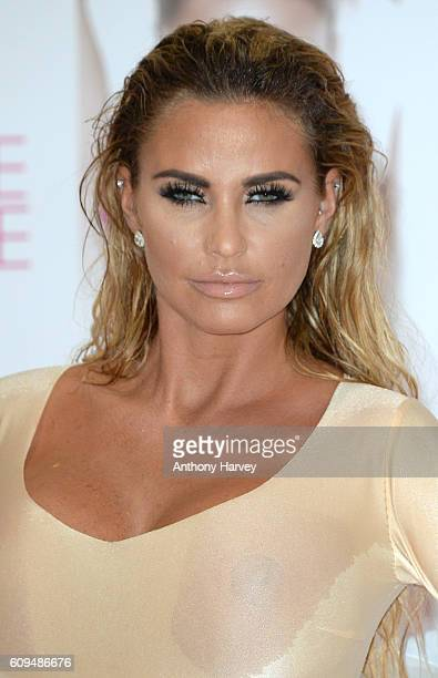Katie Price unveils her new Book 'Reborn' at The Worx on September 21 2016 in London United Kingdom