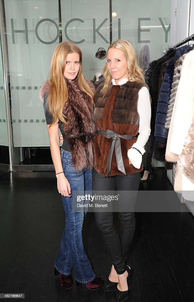 Katie Readman and Alice Naylor-Leyland attend A Winter's Evening With Hockley hosted by Alice Naylor-Leyland and Katie Readman to preview the Autumn/Winter 2013-2014 collection at the Hockley Conduit Street store on November 26, 2013 in London, England.
