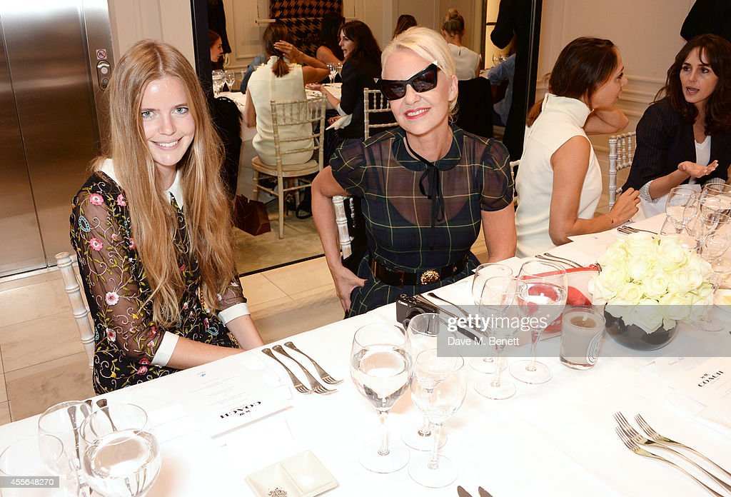 Katie Readman and Amanda Eliasch attend the Coach Fall 2014 Collection Launch at their New Bond Street store on September 18 2014 in London England