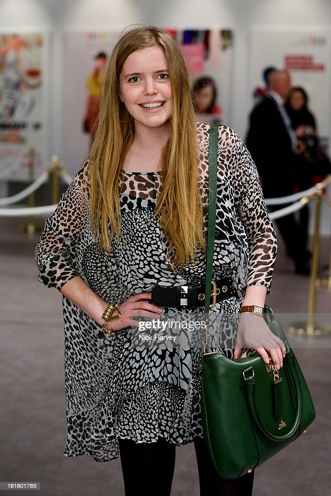 Katie Readman attend the Issa London show during London Fashion Week Fall/Winter 2013/14 at Somerset House on February 16, 2013 in London, England.