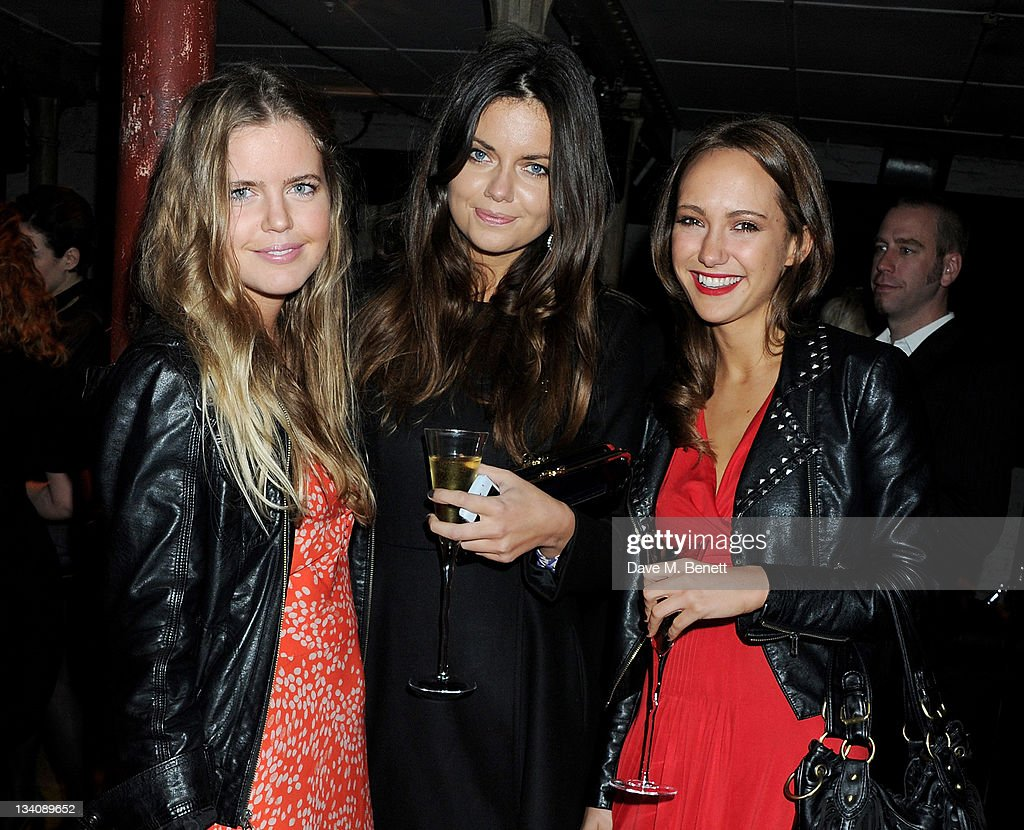 Katie Readman, Lavinia Brennan and guest attend the launch of the Vertu Constellation, the luxury mobile phone maker's first touchscreen handset, at the Farmiloe Building on November 24, 2011 in London, England.