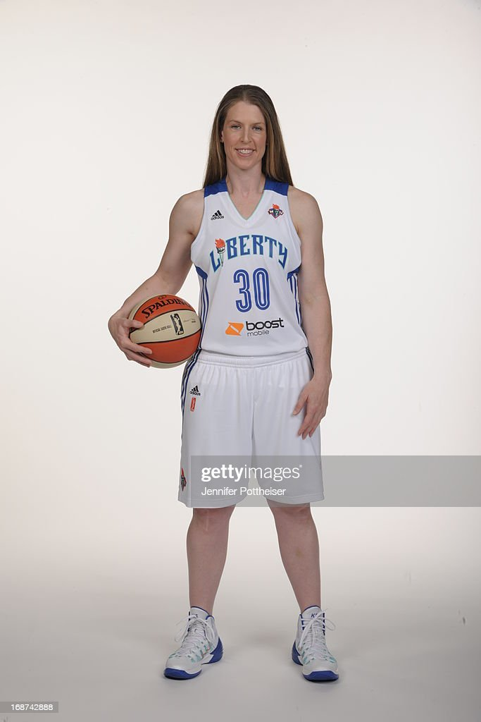 Katie Smith #30 of the New York Liberty poses for a photo during WNBA Media Day on May 13, 2013 at the Madison Square Garden Training Facility in Tarrytown, New York.