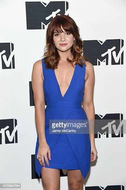 Katie Stevens attends the MTV 2015 Upfront presentation on April 21 2015 in New York City