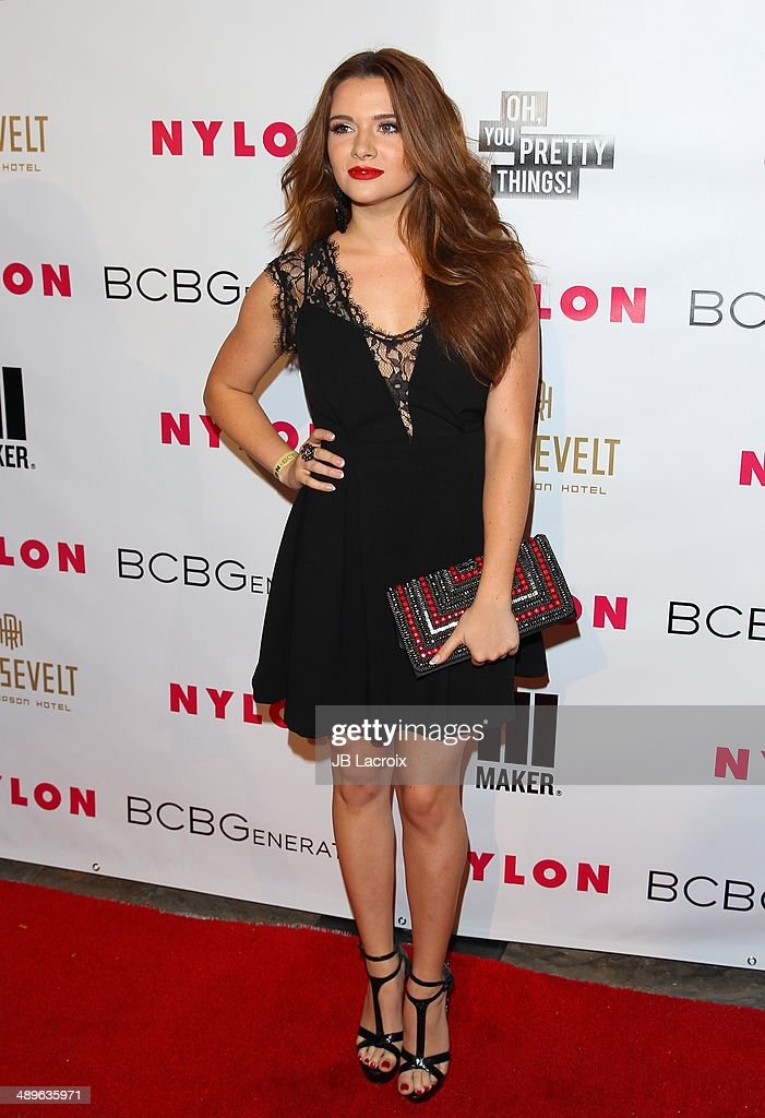 <a gi-track='captionPersonalityLinkClicked' href=/galleries/search?phrase=Katie+Stevens&family=editorial&specificpeople=6749187 ng-click='$event.stopPropagation()'>Katie Stevens</a> attends the Nylon Magazine May Young Hollywood Issue Party on May 8, 2014 in Hollywood, California.