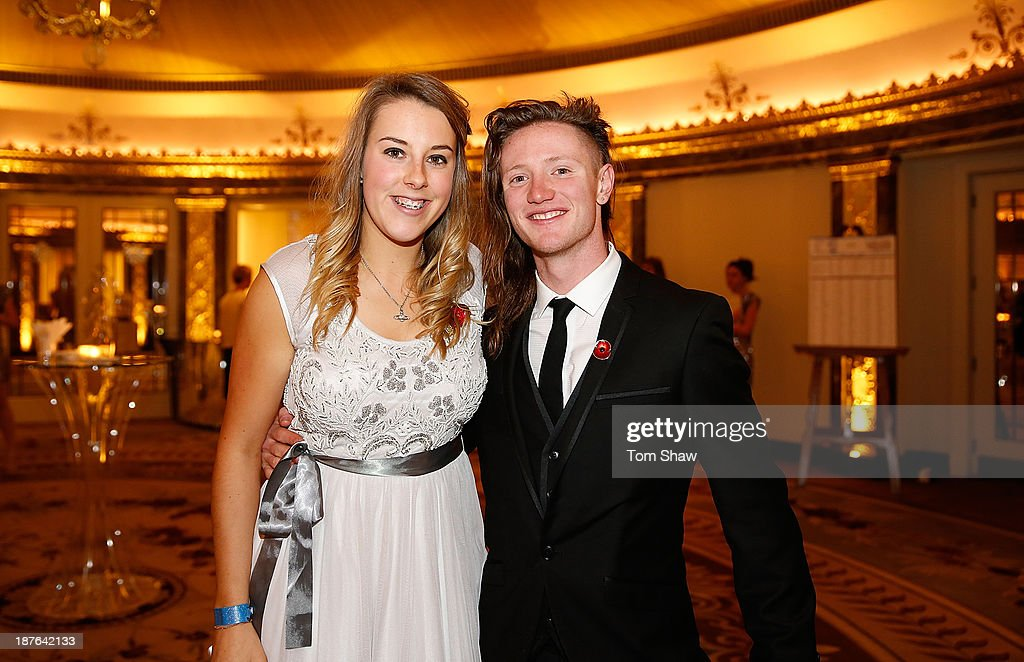 Katie Summerhayes and James Woods of Great Britain pose during the British Olympic Ball at The Dorchester on October 30, 2013 in London, England.