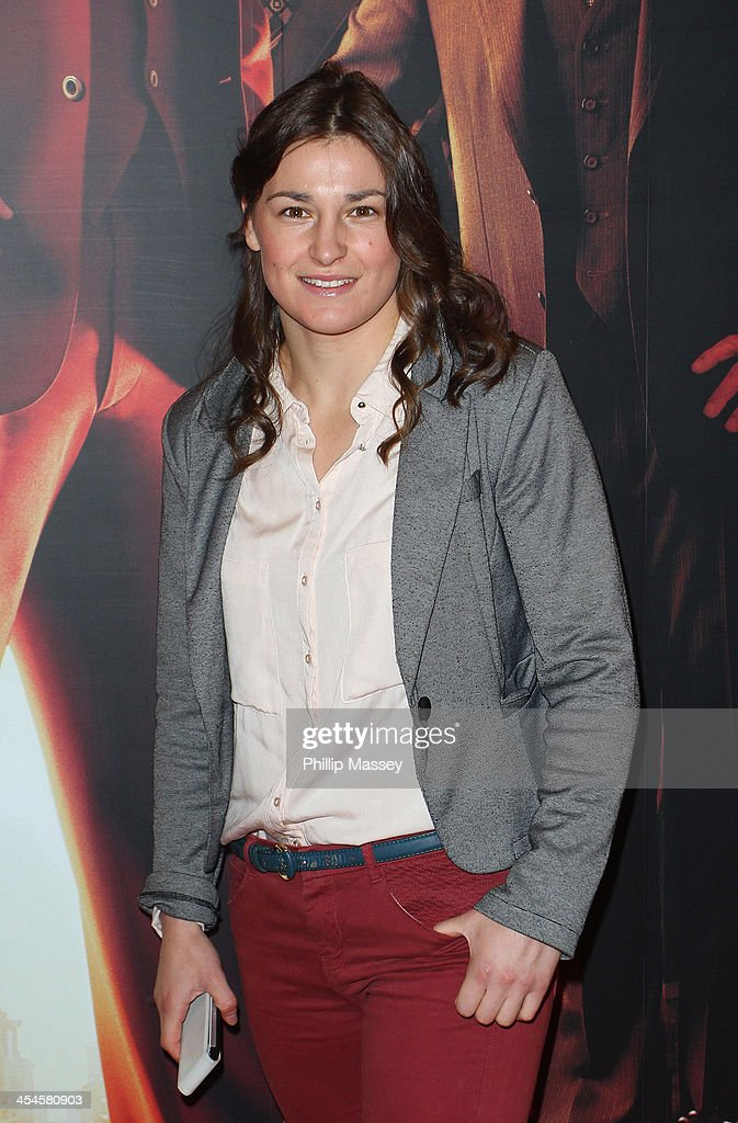 Katie Taylor attends the Irish premiere of 'Anchorman 2: The Legend Continues' on December 9, 2013 in Dublin, Ireland.