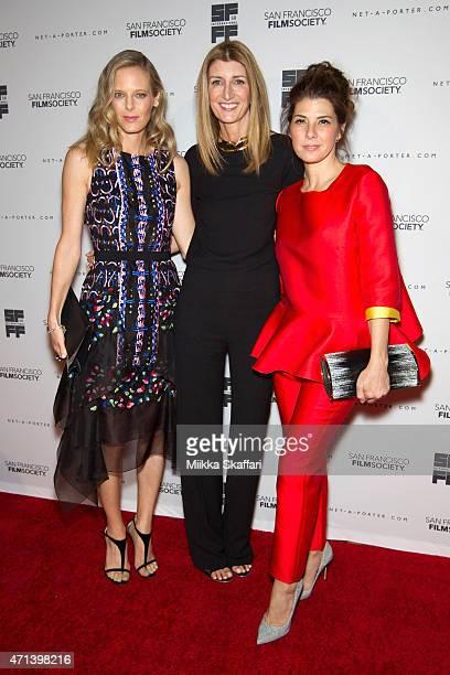 Katie Traina Sarah Rutson and Actress Marisa Tomei arrive at the Film Society Awards night at 58th San Francisco International Film Festival at The...