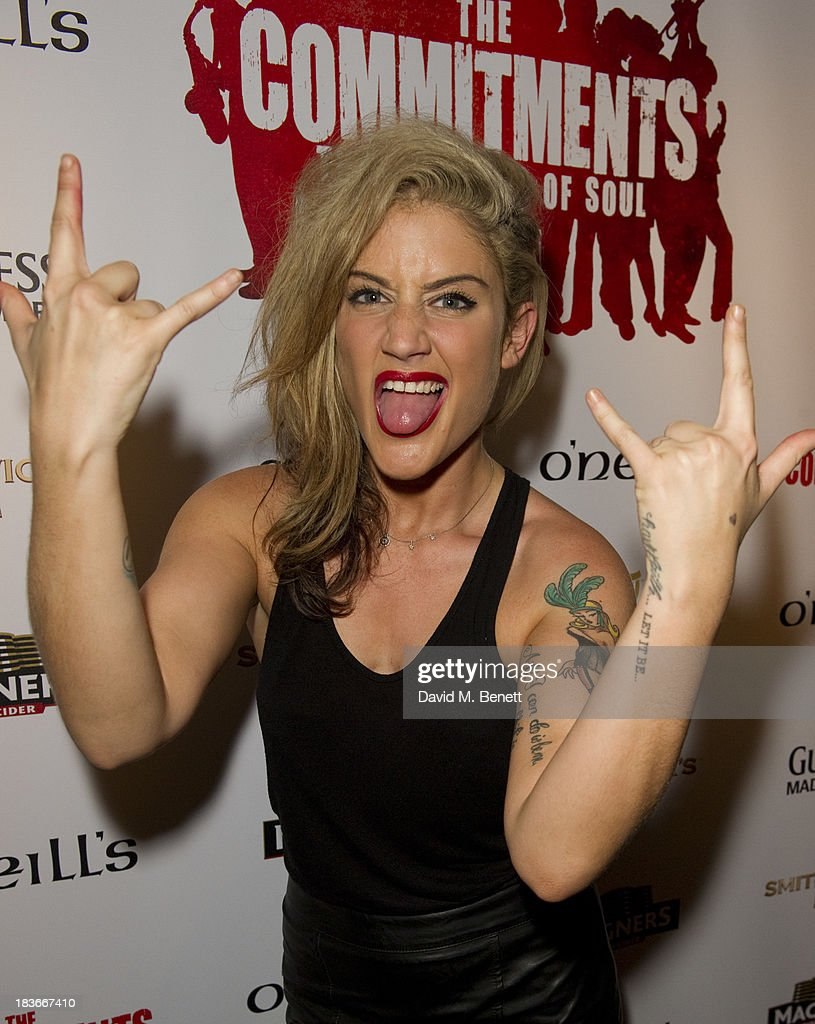 <a gi-track='captionPersonalityLinkClicked' href=/galleries/search?phrase=Katie+Waissel&family=editorial&specificpeople=7229782 ng-click='$event.stopPropagation()'>Katie Waissel</a> attends an after party following the press night performance of 'The Commitments' at O'Neill's Soho on October 8, 2013 in London, England.