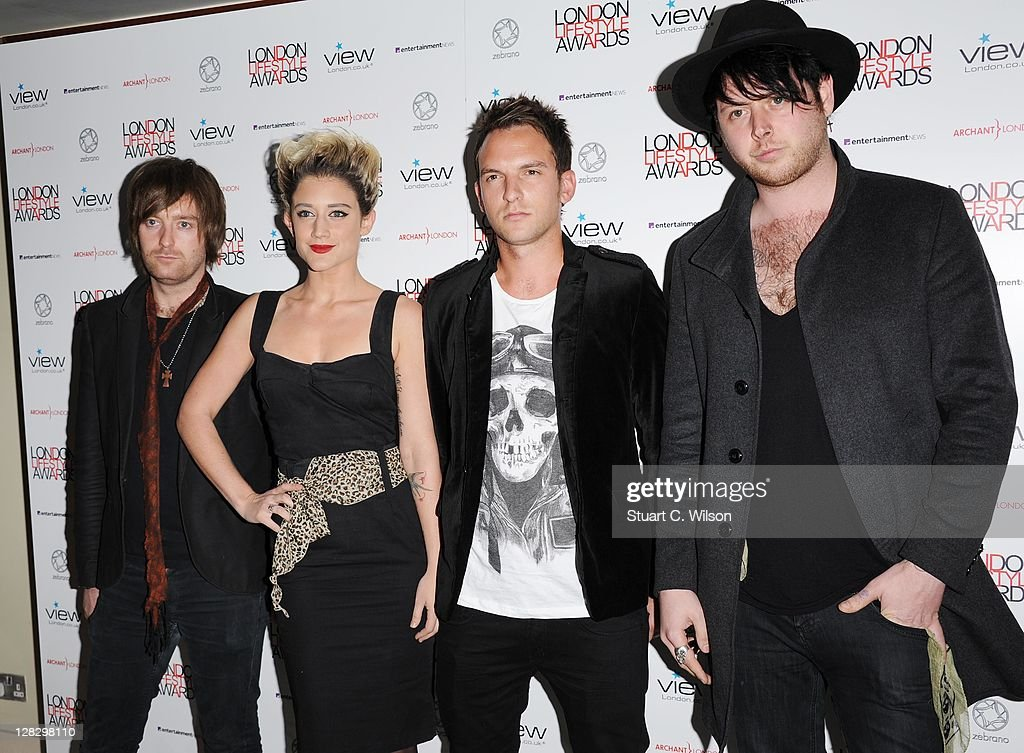 Katie Waissel (2nd L) attends the London Lifestyle Awards 2011 at Park Plaza Riverbank Hotel on October 6, 2011 in London, England.