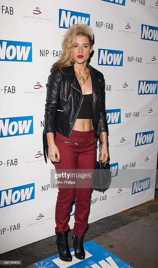 katie waissel attends the Now Magazine Christmas party at Soho Sanctum Hotel on November 26, 2013 in London, England.