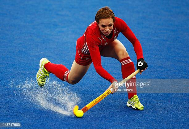 Katie Walsh of Great Britain in action during the Women's preliminary match between Great Britain and China during the Visa International...