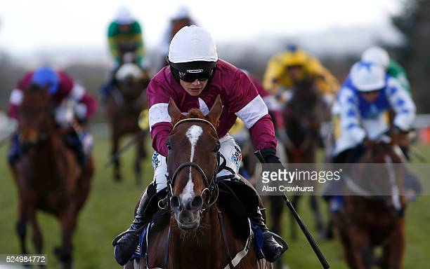 Katie Walsh riding Blow By Blow win The Attheracescom Champion INH at Punchestown racecourse on April 27 2016 in Naas Ireland