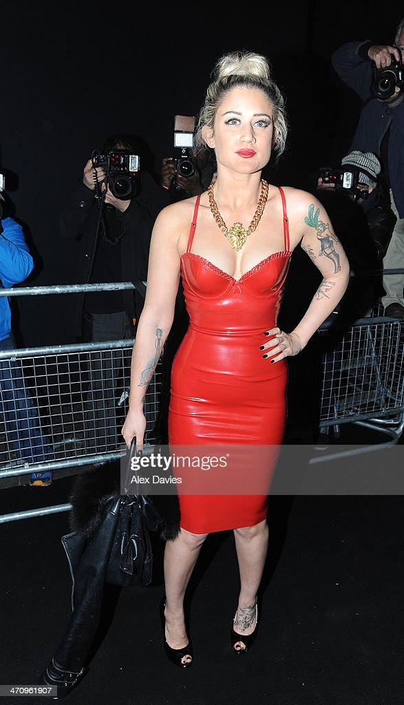 Katie Wassall sughting on February 19, 2014 in London, England.