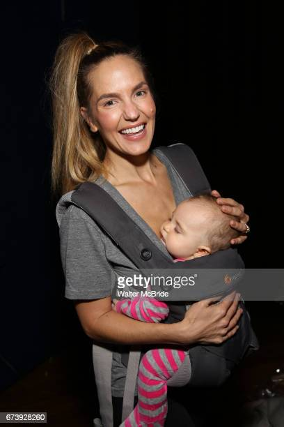 Katie Webber and baby attends the Actors' Equity Broadway Opening Night Gypsy Robe Ceremony honoring Kevin Worley from 'Bandstand' at the Bernard B...