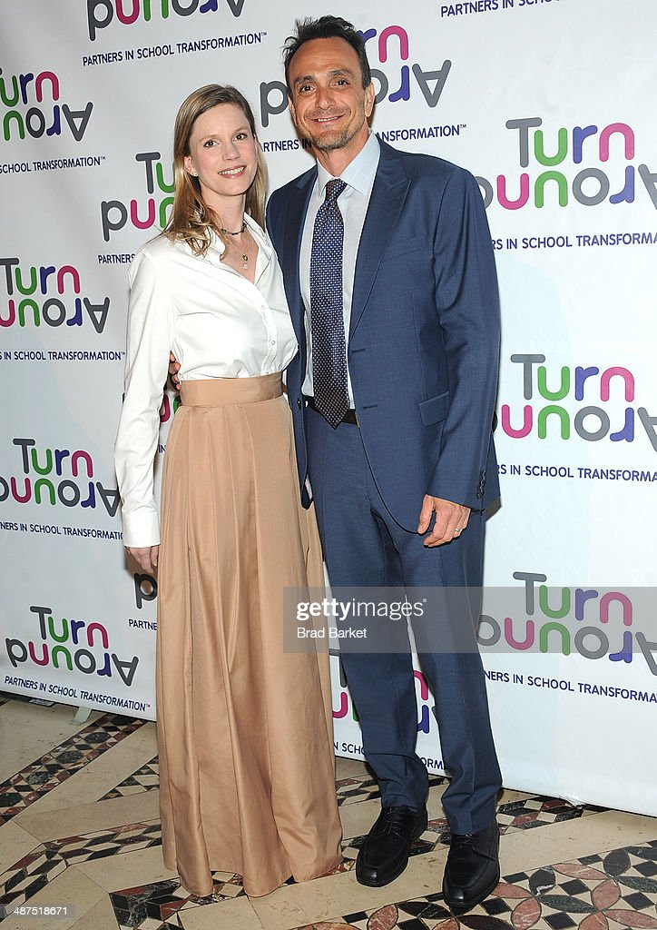 Katie Wright and Hank Azaria attend the Turnaround For Children's 5th Annual Impact Awards Dinner at Cipriani 42nd Street on April 30, 2014 in New York City.