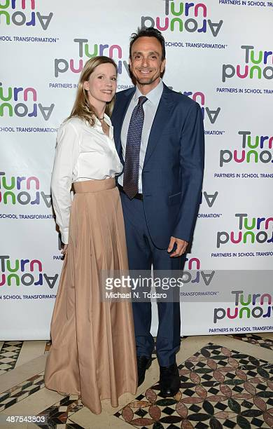 Katie Wright and Hank Azaria attend the Turnaround for Children's 5th Annual Impact Awards Dinner at Cipriani 42nd Street on April 30 2014 in New...