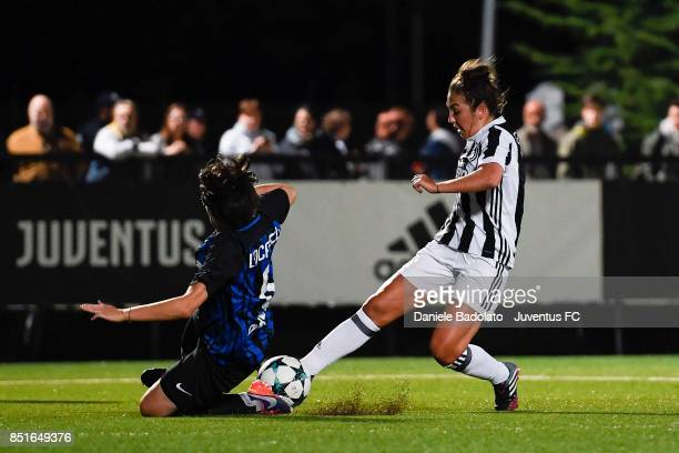 Katie Zelem during a friendly match between Juventus Women and FC Internazionale Women on September 22 2017 in Vinovo Italy
