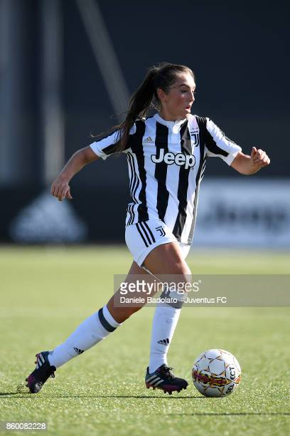 Katie Zelem in action during the Juventus Women v Res Roma women match at Juventus Center Vinovo on October 7 2017 in Vinovo Italy