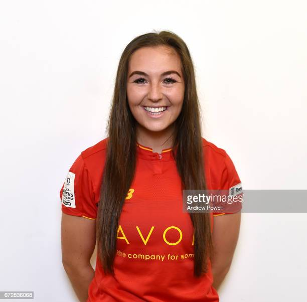 Katie Zelem of Liverpool Ladies during a photo session at Select Security Stadium on April 25 2017 in Widnes England