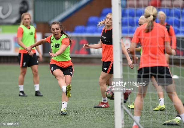Katie Zelem of Liverpool Ladies during a training session at Select Security Stadium on June 2 2017 in Widnes England