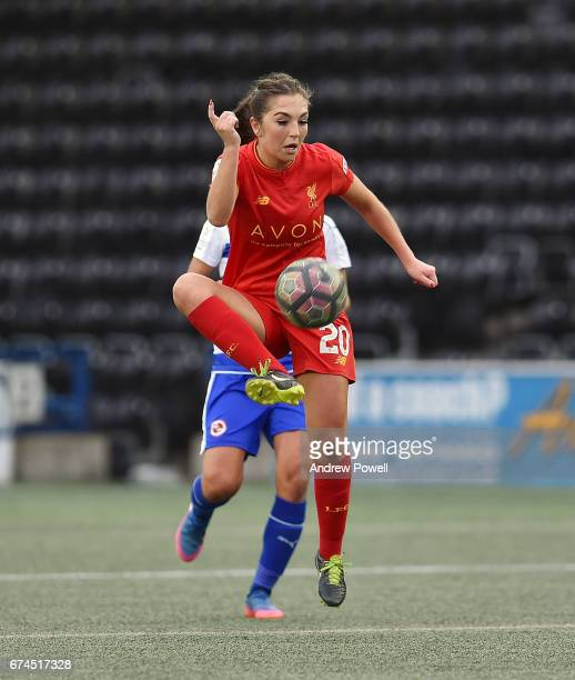 Katie Zelem of Liverpool Ladies during a Women's Super League match between Liverpool Ladies and Reading FC Women at Select Security Stadium on April...