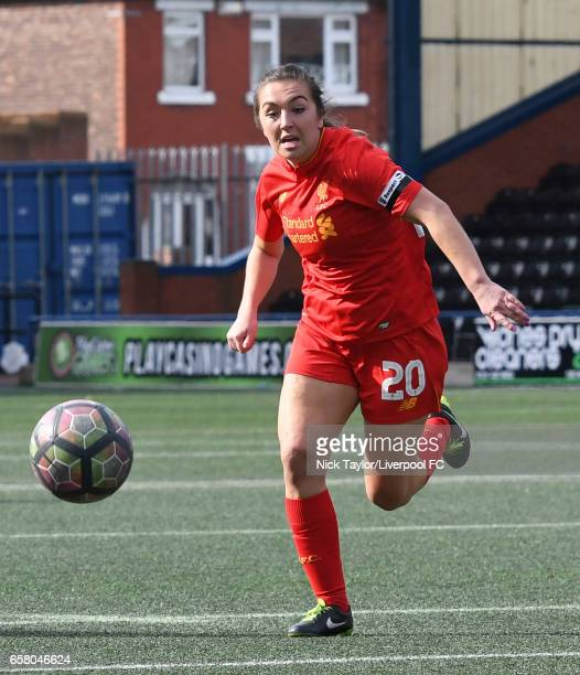 Katie Zelem of Liverpool Ladies in action during SSE FA Women's Cup match between Liverpool Ladies and Notts County Ladies at Select Security Stadium...