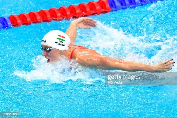 Katinka Hosszu during the Budapest 2017 FINA World Championships on July 27 2017 in Budapest Hungary