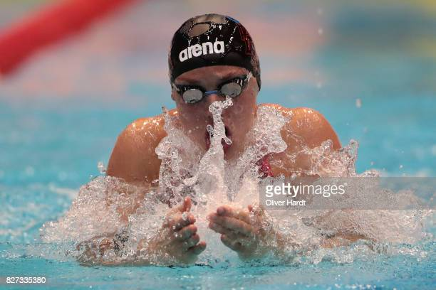 Katinka Hosszu of Hungary compete in the Women's 100m individual medley final race during day two of the FINA Airweave Swimming World Cup Berlin 2017...
