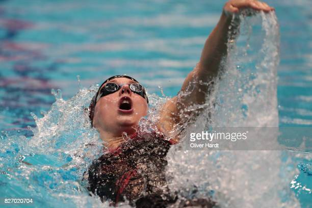 Katinka Hosszu of Hungary compete in the Women's 400m individual medley final race during day one of the FINA Airweave Swimming World Cup Berlin 2017...