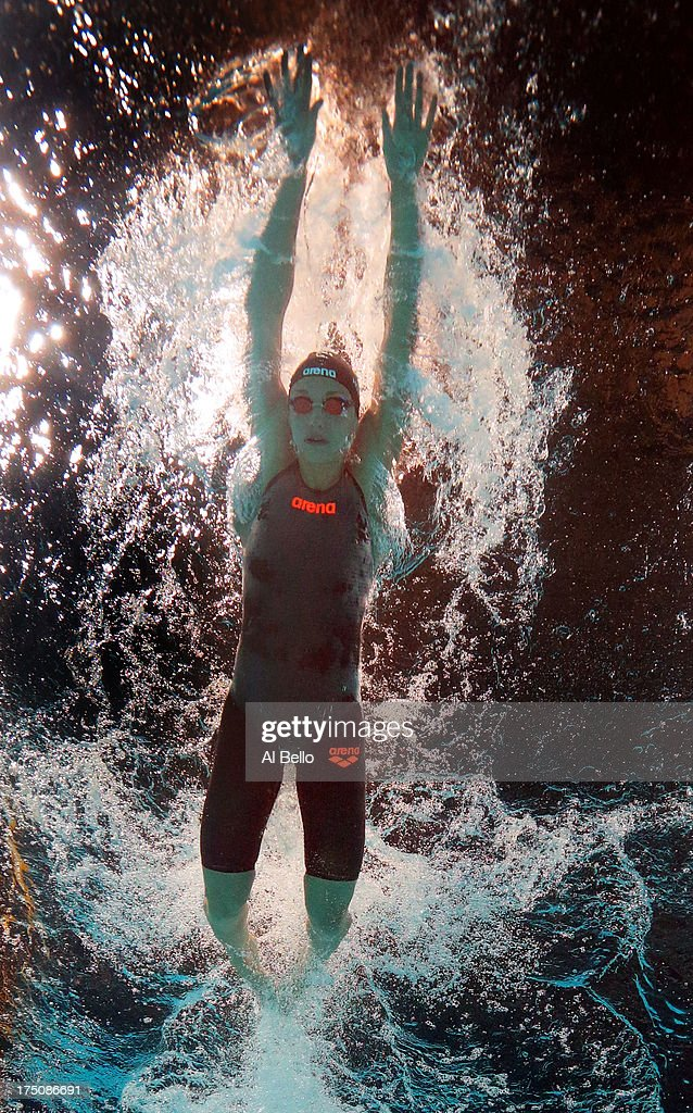 <a gi-track='captionPersonalityLinkClicked' href=/galleries/search?phrase=Katinka+Hosszu&family=editorial&specificpeople=2124249 ng-click='$event.stopPropagation()'>Katinka Hosszu</a> of Hungary competes during the Swimming Women's 200m Butterfly on day twelve of the 15th FINA World Championships at Palau Sant Jordi on July 31, 2013 in Barcelona, Spain.