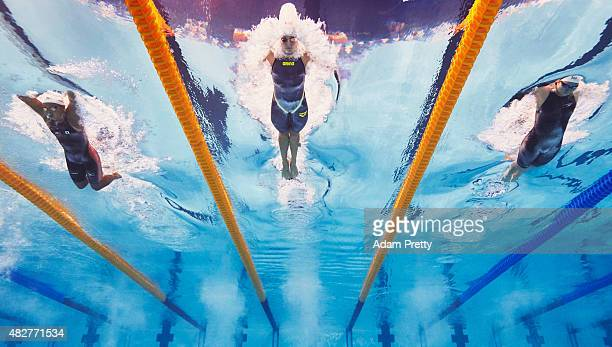 Katinka Hosszu of Hungary competes in the Women's 200m Individual Medley SemiFinals on day nine of the 16th FINA World Championships at the Kazan...