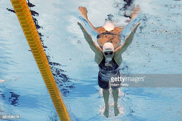 Katinka Hosszu of Hungary competes in the Women's 200m Individual Medley heat on Day 3 of the Rio 2016 Olympic Games at the Olympic Aquatics Stadium...