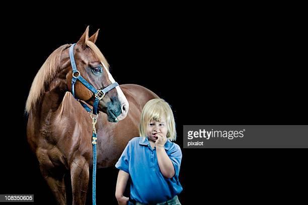 Katja et Paul (coy fille à cheval