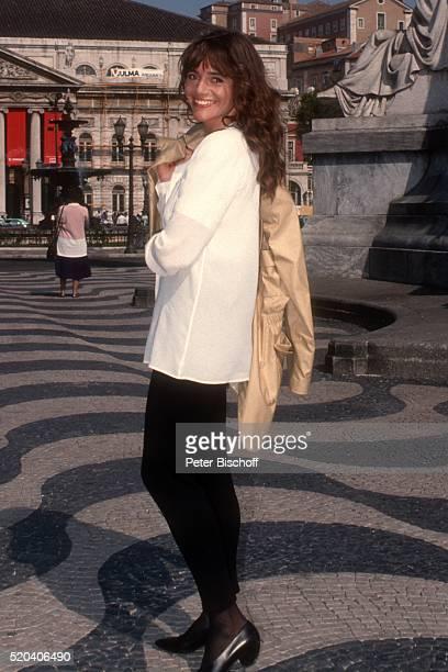 Katja Bienert am Rande der Dreharbeiten zur PRO 7Serie 'Glückliche Reise' Folge 14 'Portugal' Episode 2 'Lissabon sehen und sterben' am in Lissabon...
